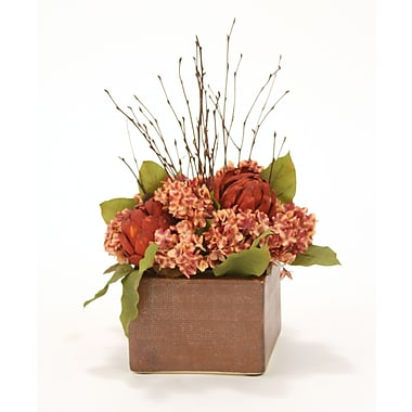 Distinctive Designs Fall Mix of Silk Hydrangeas, Twigs and Leaves