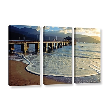 ArtWall A Land Called Hanalei by Kathy Yates 3 Piece Photographic Print on Wrapped Canvas Set