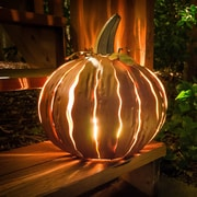 Desert Steel Squatty Orange Pumpkin Luminary