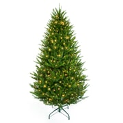 Hometime Snowtime 6.6' Green Pre-Lit Boston Spruce Artificial Christmas Tree w/ 700 Clear Lights