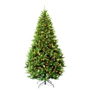 Hometime Snowtime 6.6' Green Pre-Lit Carolina Pine Artificial Christmas Tree w/ 350 Clear Lights