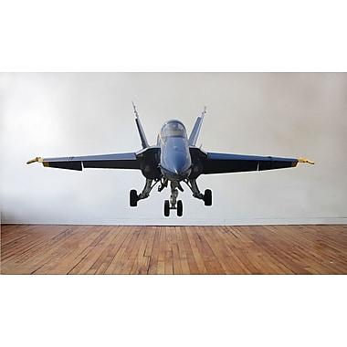 Wallhogs US Navy ''Blue Angel'' F-18 Hornet Nose View Cutout Wall Decal; 24'' H x 60'' W