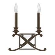 Donny Osmond Alexander 2-Light Candle Sconce; Burnished Bronze