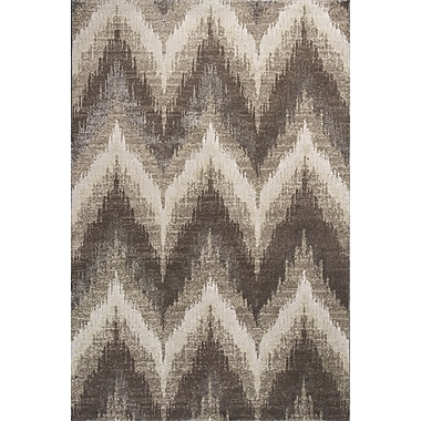 Donny Osmond Timeless Champagne Chevron Area Rug; Rectangle 2'2'' x 3'3''