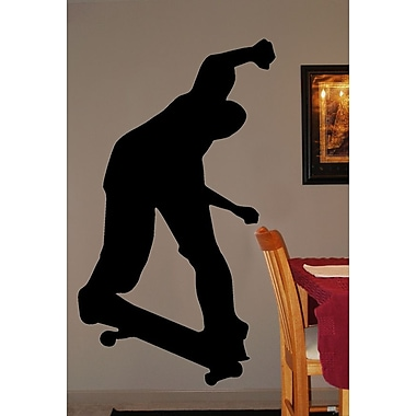 Wallhogs Skateboard Silhouette IV Cutout Wall Decal; 48'' H x 27'' W