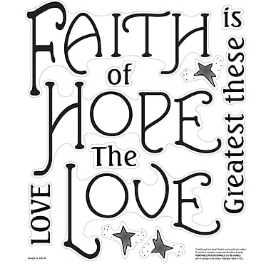 Wallhogs Faith, Hope and Love Quote Wall Decal