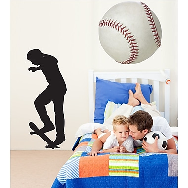 Wallhogs Skateboard Silhouette XII Cutout Wall Decal; 60'' H x 24.5'' W