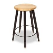 WB Manufacturing Adjustable Height Round Hardwood Seat 5 Leg Stool; 22 - 32''