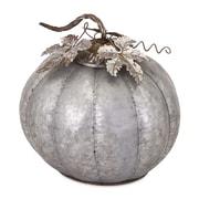 Woodland Imports Kellan Galvanized Pumpkin Sculpture; 12.5'' H x 12'' W x 12'' D