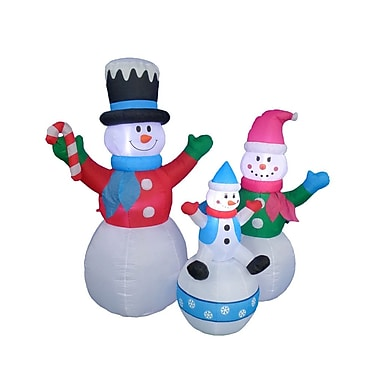 BZB Goods Happy Snowmen Family Christmas Decoration