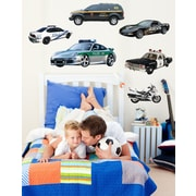 Wallhogs Police Multi-Pack Cutout Wall Decal