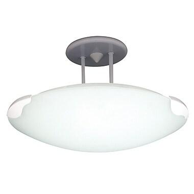 PLC Lighting Concord Semi Flush Mount; White / 12.5''