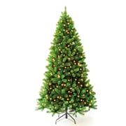 Hometime Snowtime 7.5' Pre-Lit Charlotte Spruce Artificial Christmas Tree w/ 700 Clear Lights
