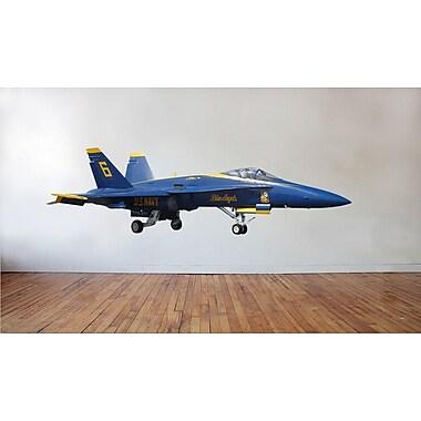 Wallhogs US Navy ''Blue Angel'' F-18 Hornet Cutout Wall Decal; 13.5'' H x 48'' W
