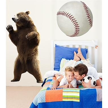 Wallhogs Bear Cutout Wall Decal; 36'' H x 18'' W