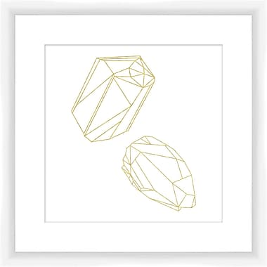 PTM Images Outline Gemstone I Framed Graphic Art