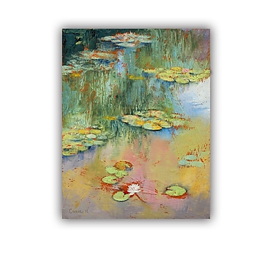 ArtWall ArtApeelz Water Lily by Michael Creese Graphic Art Removable Wall Decal