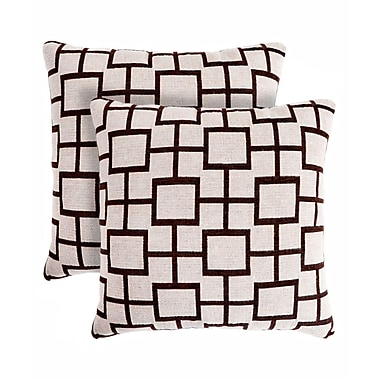 Pegasus Home Fashions Contempo Throw Pillow (Set of 2)