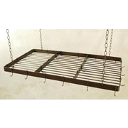 Grace Butcher Hanging Pot Rack w/ Grid; Ivory