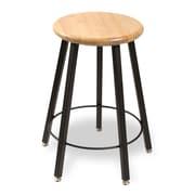 WB Manufacturing Round Hardwood Seat 5 Leg Stool; 24''
