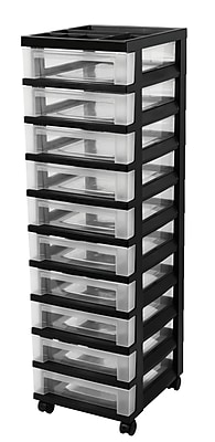 IRIS® 10 Drawer Storage Cart, Black (585650)