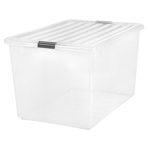 IRIS® 132 Quart Buckle Down Storage Box, 3 Pack (100251)