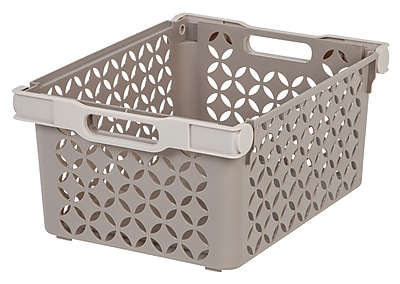 IRIS® Large Decorative Storage Basket, 8 Pack (250130)