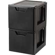 IRIS® Premier Stacking File Storage Drawer, 2 Pack (122090)