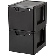 IRIS® Stacking File Storage Drawer with Lock, 2 Pack (122092)