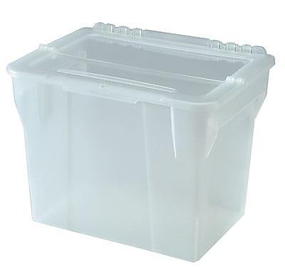 IRIS® Split lid Letter Size File Box Storage, 4 Pack (139889)