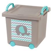 IRIS® 21 Quart Kids Stacking Basket with Lid, Pebble Beach, 4 Pack (102786)
