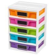 IRIS® 5 Drawer Girl's Storage & Organizer Chest, 2 Pack (150330)