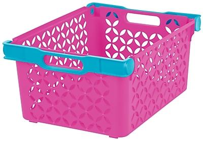 IRIS® Girl's Large Decorative Basket, 8 Pack (250135)
