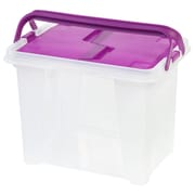 IRIS® Portable File Box, Purple, 4 Pack (111136)