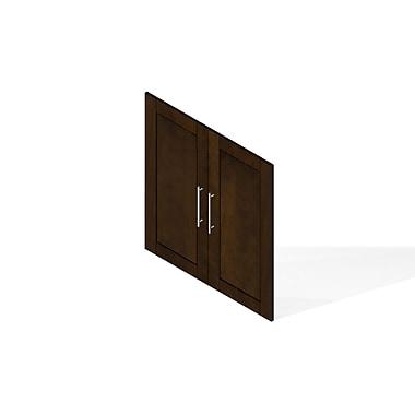 Pur by Bestar – Ensemble de 2 portes pour étagère 36 po, fini chocolat