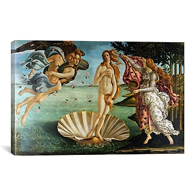 iCanvas The Birth of Venus by Botticelli Sandro Painting Print on Wrapped Canvas