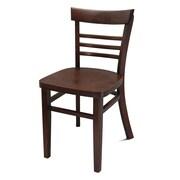 JUSTCHAIR Side Chair; Walnut