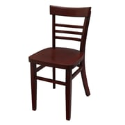 JUSTCHAIR Side Chair; Mahogany