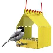 Onehundred Brdi Platform Tray Bird Feeder; Yellow