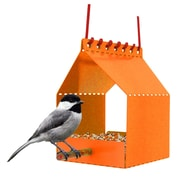 Onehundred Brdi Platform Tray Bird Feeder; Orange