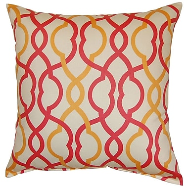 Dakotah Pillow Make Waves Cotton Throw Pillow; Sorbet