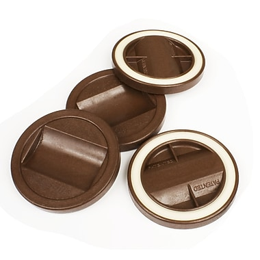 Slipstick Bed Roller/Furniture Wheel Gripper Cup Coaster (Set of 4); Chocolate