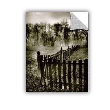 ArtWall ArtApeelz Fence In The Fog by Steve Ainsworth Photographic Print on Canvas