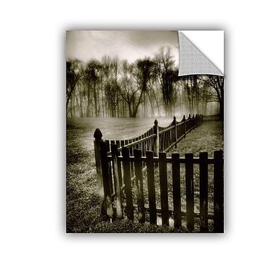 ArtWall ArtApeelz Fence In The Fog by Steve Ainsworth Photographic Print on Canvas