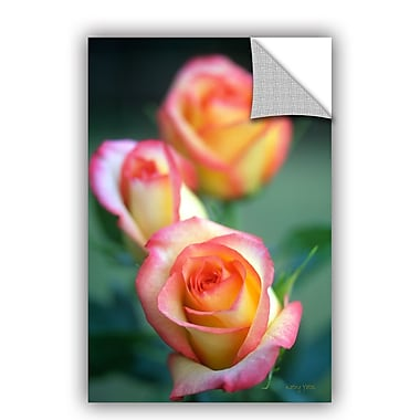 ArtWall ArtApeelz Rose Trio by Kathy Yates Photographic Print on Canvas; 32'' H x 48'' W x 0.1'' D