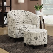 Wildon Home   Dewall Barrel Chair and Ottoman
