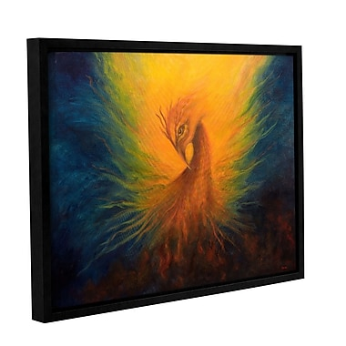 ArtWall Firebird by Marina Petro Framed Painting Print on Wrapped Canvas; 14'' H x 18'' W