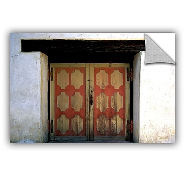 ArtWall ArtApeelz Mission Door by Kathy Yates Photographic Print; 32'' H x 48'' W x 0.1'' D