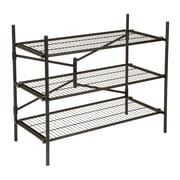"Cosco® 3-Shelf 35.73"" Folding Instant Storage Unit, Black (66713BLK1E)"