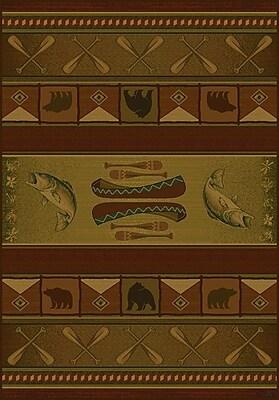 United Weavers of America Genesis Green Colorado Lodge Area Rug; 1'10'' x 3'